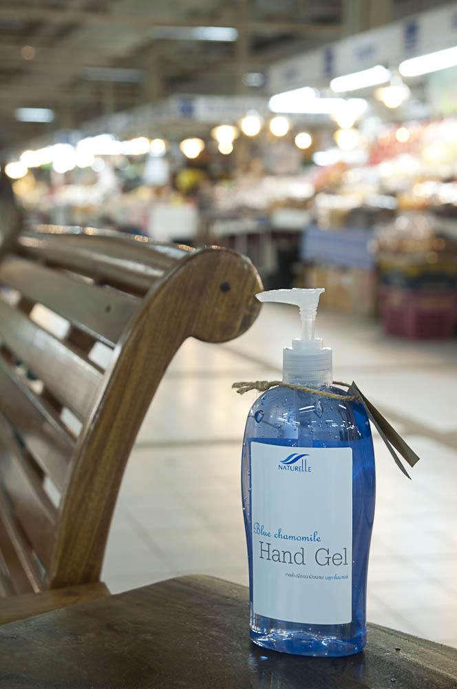 ล้างมือตอนพักเหนื่อยจากการจ่ายตลาดอตก.วันหยุด